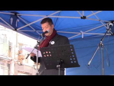 Projev Tomia Okamury - demonstrace 6.2.2016 na Václaváku v Praze
