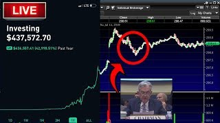 DAY 2: FED CHAIR JAY POWELL LIVE – Live Trading, Day Trading, Option Trading & Stock Market News