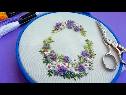 Easy stitches | #StayHome and learn #WithMe |Easter embroidery (+pattern)