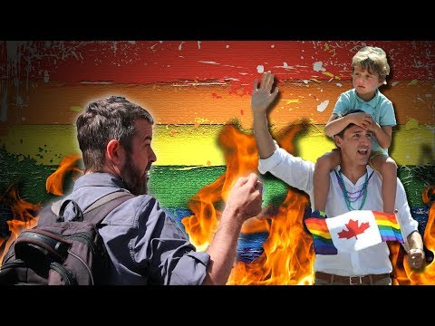 Prime Minister Justin Trudeau Brings His Children To Pride so Dan Dicks Confronts Him!!