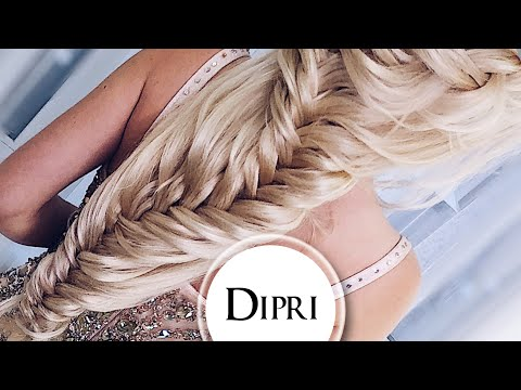 Вечерняя прическа из кос на длинные волосы | Ольга Дипри #урокипричеок