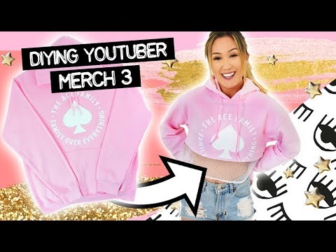 Buying YouTuber Merch & DIYing It #3: The Ace Family, The Try Guys + Roman Atwood
