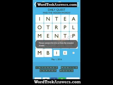 Word Trek Daily Quest May 1 Answers