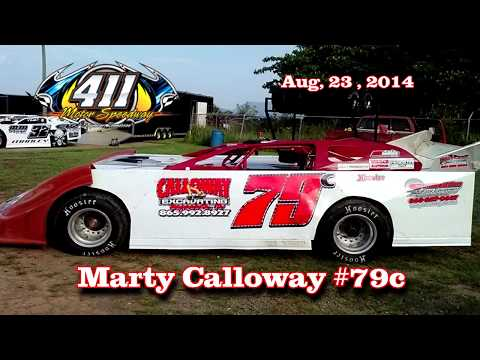 Marty Calloway #79c   411 Motor Speedway   8 23 14 - dirt track racing video image