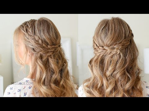 Half Up Double Wrapped Braids | Missy Sue