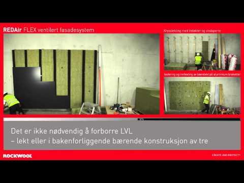 REDAir FLEX - Ventilert fasadeløsning - Montering - ROCKWOOL Norge