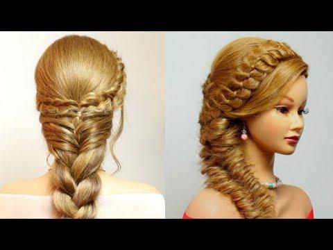 2 Красивые Прически В Школу. Косы На Длинные Волосы