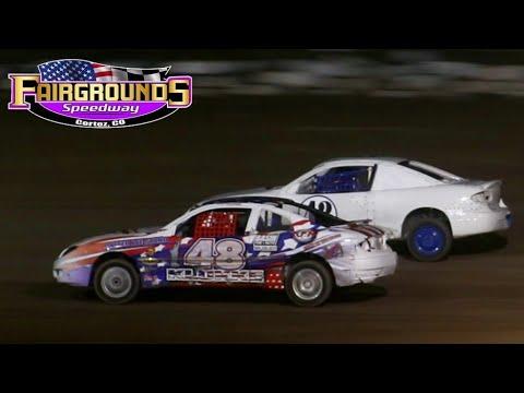 Fairgrounds Speedway IMCA Sport Compact Main Event 8/13/21 - dirt track racing video image