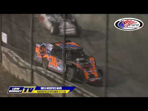 It's opening night at the Historic Bakersfield Speedway! It's the start of their 75th racing season. In this video you will see Main Event Highlights from the IMCA Modifieds, IMCA Sport Mods, IMCA Stock Cars and American Stocks. - dirt track racing video image