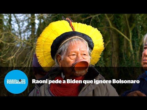 Cacique Raoni pede ao presidente dos EUA que ignore Jair Bolsonaro