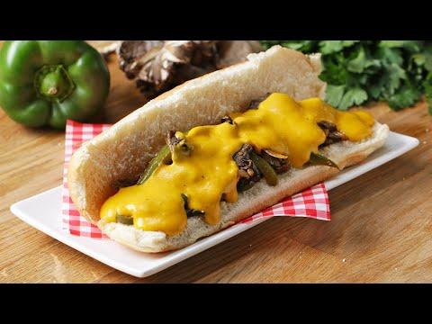 Vegan Mushroom ?Cheesesteak? Sandwich