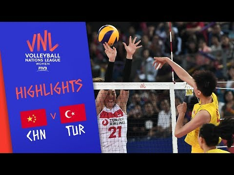 CHINA vs. TURKEY - Highlights Women | Week 4 | Volleyball Nations League 2019