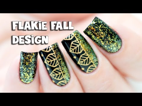 FLAKIE FALL NAIL ART with Ejiubas x Laublm 2.0 Stamping Plate