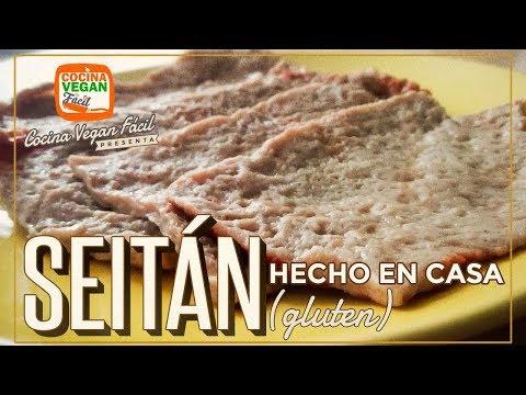 Seitán hecho en casa (gluten) - Cocina Vegan Fácil