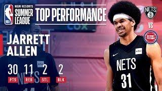 Jarrett Allen Drops 30 Points in Quarterfinals Win | July 13, 2019