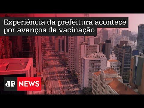 Avenida Paulista reabre parcialmente pela primeira vez na pandemia