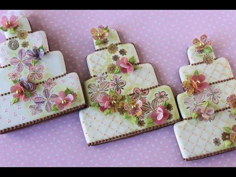 How to Make Multi-Media Wedding Cake Cookies