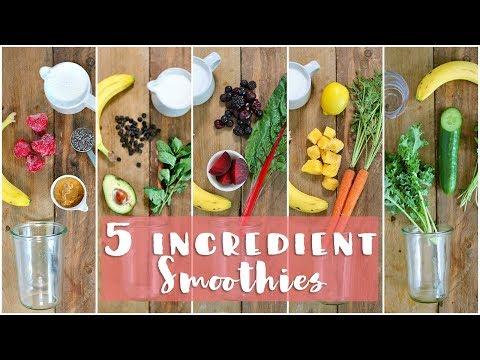 5 Healthy Smoothie Recipes   Healthy Breakfast Ideas
