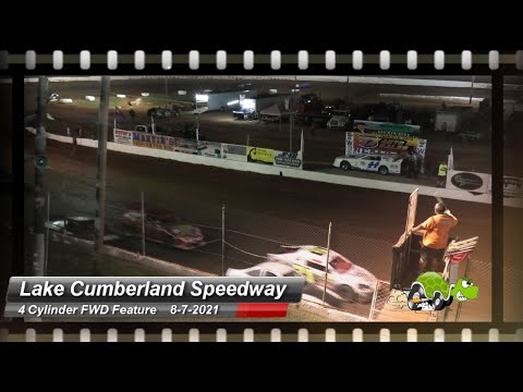 Lake Cumberland Speedway - 4 Cylinder (FWD) Feature - 8/7/2021 - dirt track racing video image