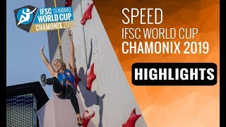 IFSC Climbing World Cup Chamonix 2019 - Speed - Highlights