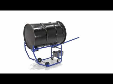 Rotating Drum Carts RDC-100-10 with Drip Pan