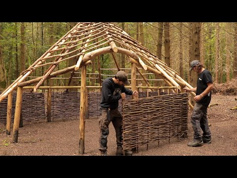Building an Iron Age Roundhouse: Perimeter Walls | Bushcraft Shelter (PART 5)