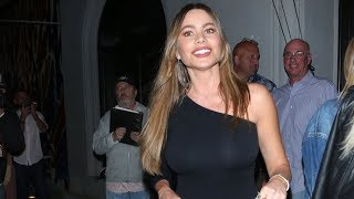 Sofia Vergara Stuns In Off-The-Shoulder Top For Dinner In WeHo