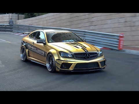 Mercedes C63 AMG Black Series Gold Wrapped by TIP Exclusive @ Top Marques Monaco 2019