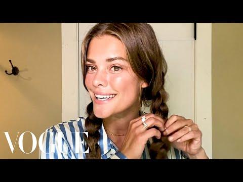 Model Nina Agdal's Face Sculpting Secrets | Beauty Secrets | Vogue