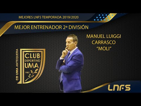 Moli, Trofeo al 'Mejor Entrenador' en Segunda División de la LNFS en la Temporada 2019/20