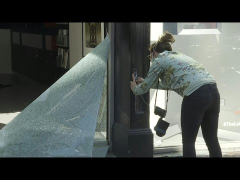 Images of damage and the clean up after protests in New York | AFP
