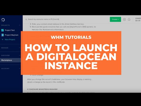 WHM Tutorials - How to Launch a DigitalOcean Instance