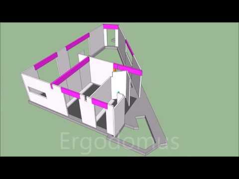 """""""Casa Pula"""" - Fasi di montaggio struttura legno"""