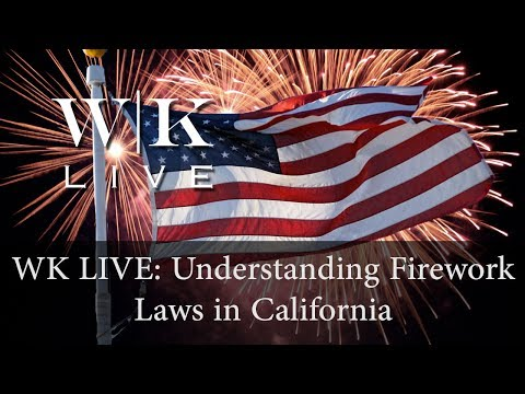 Illegal Fireworks Laws in California