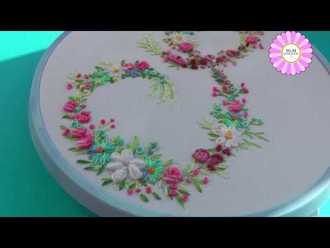 Floral letter | hand embroidery for beginners | pattern