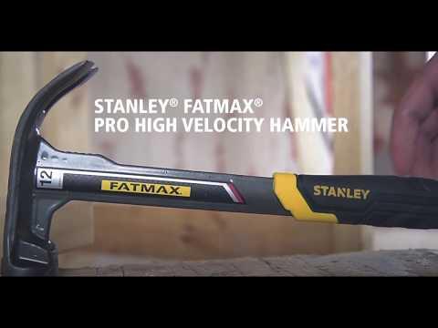 The new STANLEY® FATMAX® Pro High Velocity Hammer.