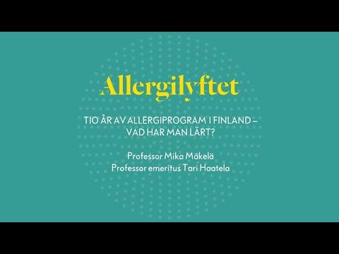Allergilyftet: Tio år av allergiprogram i Finland -- vad har man lärt?