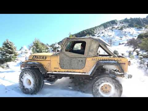JEEP in the snow - DAGAS 4x4 Larissa