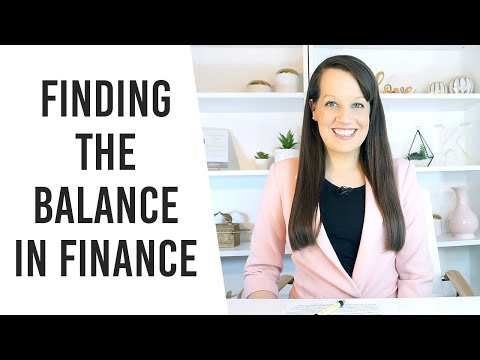 Find Balance- The Message the Church Needs about Finances