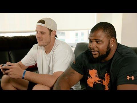 Brandon Williams And Ryan Mallett Compete In Madden | Baltimore Ravens