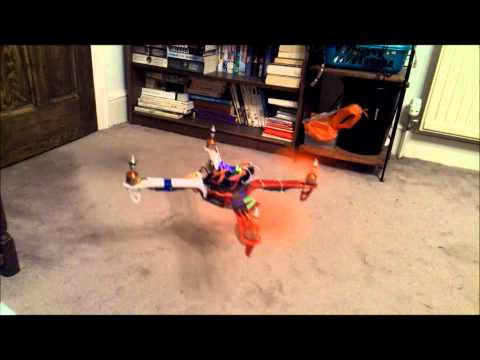 multiwii quadcopter using Arduino Nano GY80 - take off test -  PID tuning - UCQ3OvT0ZSWxoVDjZkVNmnlw
