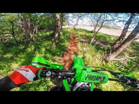2020 Kawasaki KX250F in the Woods