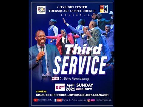 LIVE// ''SUNDAY EASTER WEEK DAY  7  3nd Service  with Bishop Fidele MASENGO 04.04.2021
