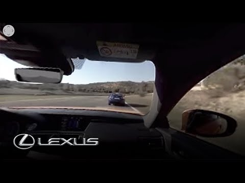 Experience the Lexus RC F in virtual reality (aggressive drive)