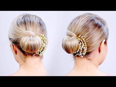 Super Cute & Easy Elegant Chignon Short Hairstyle | Milabu