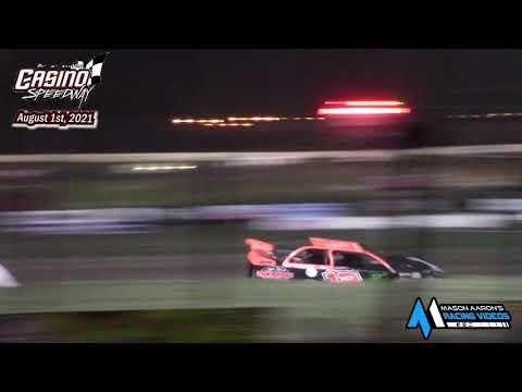 Casino Speedway WISSOTA Late Model A-Main (8/1/21) - dirt track racing video image