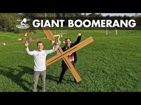Giant DIY Boomerang - Will it Fly? - UC9zTuyWffK9ckEz1216noAw