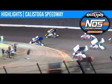 World of Outlaws NOS Energy Sprint Car Series Feature Event Highlights from Calistoga Speedway in Calistoga, California on September 14th, 2019. To view the full race, visit DIRTVision.com. - dirt track racing video image