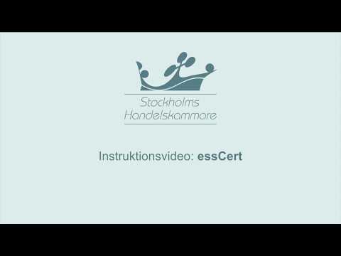Instruktionsvideo: EssCert