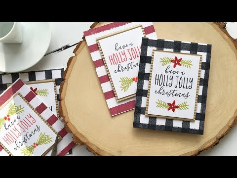Easy Homespun Christmas Cards w/Dawn ft. HOLLY JOLLY CHRISTMAS